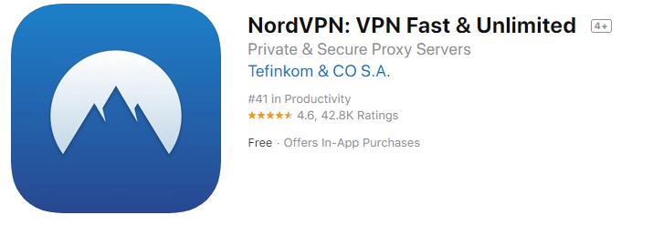 nordvpn appstore snapshot
