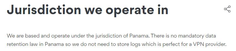 nordvpn jurisdiction panama