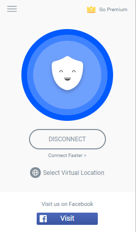 click connect to connect to fastest betternet server