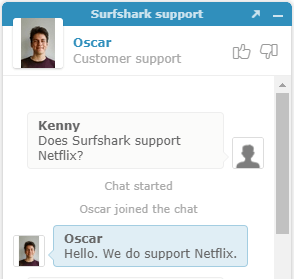 surfshark supports netflix