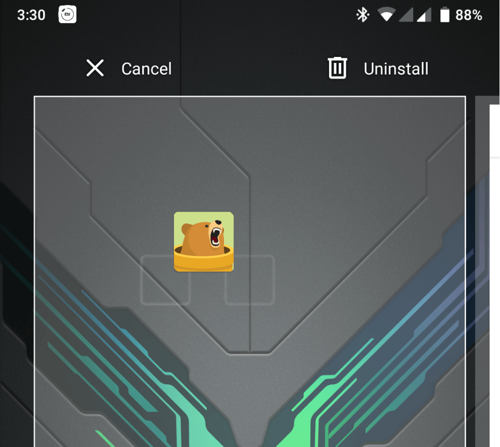 unistall tunnelbear on android